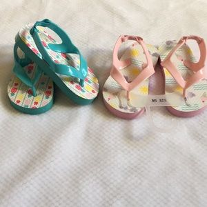 Other - Set of 2 Toddler Girl Sandals Size 5/6 NWOT